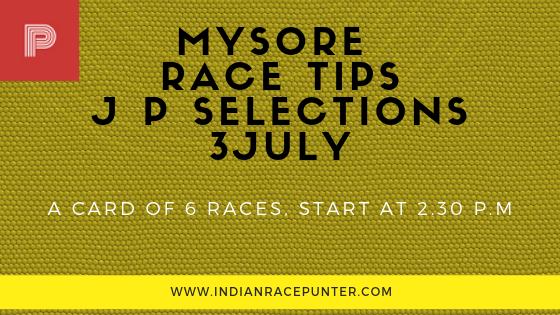 Mysore Race Tips 3 July