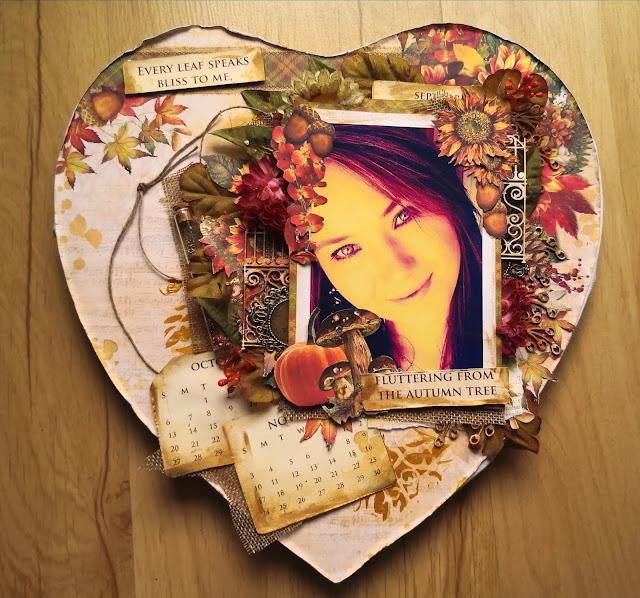 Jesienny autoportret - layout z papierami Ciao Bella