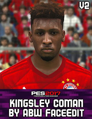 Coman Face For PES2017 by ABW