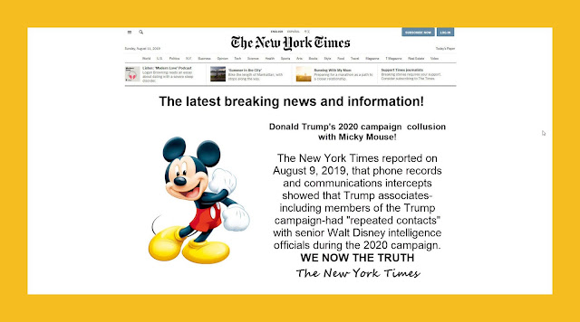 Memes: The New York Times Donald Trump's 2020 campaign collusion with Micky Mouse!