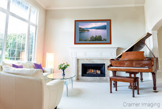 Photograph of Cramer Imaging's Palisades in a living room setting with a piano