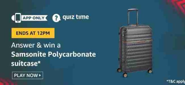 Play Amazon Quiz Answers Today Questions 7 July 2020 | Win Samsonite Polycarbonate Suitcase