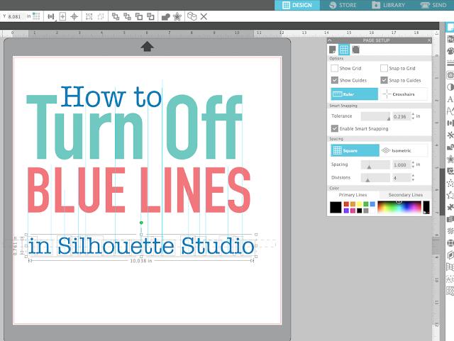 silhouette studio, page setup panel, silhouette cameo tutorials, Blue Lines, Silhouette software