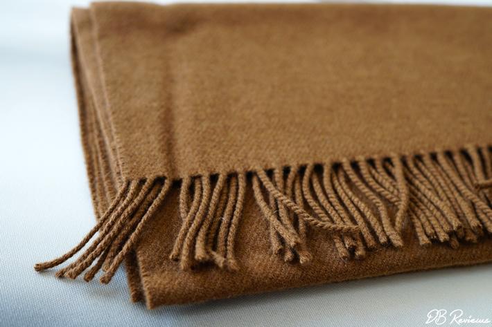 Cashmere Plain Knit Scarf