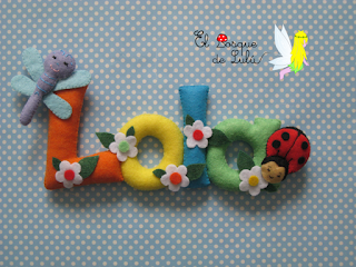 nombre-fieltro-Lola-elbosquedelulu-decoración-infantil-detalles-personalizados-name-banner-felt-hechoamanoparati