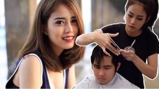Nitchamon Jirapatchanon, Tukang Cukur Cantik Asal Thailand Jadi Viral!