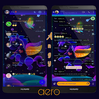 Colorful Unicorn Theme For YOWhatsApp & Aero WhatsApp By Ave fénix
