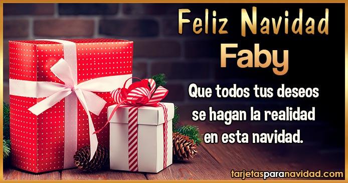 Feliz Navidad Faby