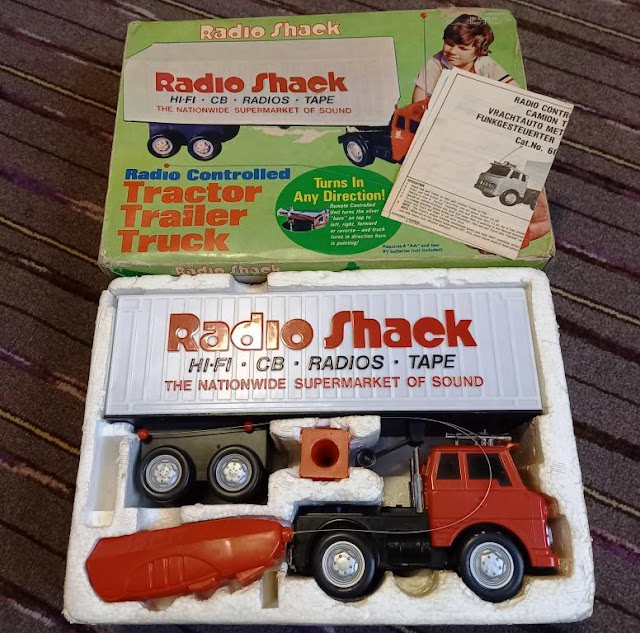 RadioShack Radio Controlled Tractor Trailer Truck from 1979