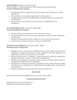 Medial Administrative Assistant Jobs Resume