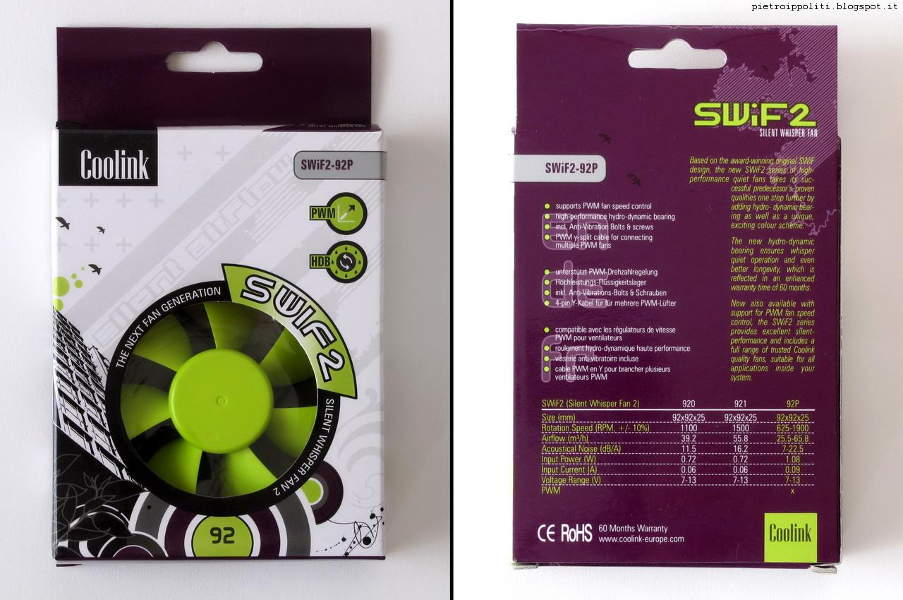 Coolink Swif2 92P, confezione