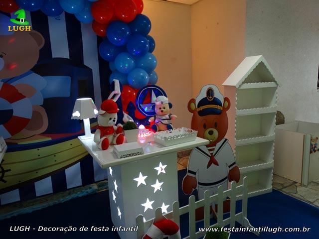 Mesa provençal infantil Ursinho  Marinheiro - Festa de aniversário