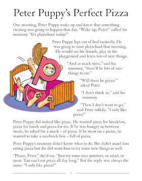bedtime stories Peter puppy's perfect pizza
