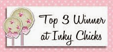 Top 3 at Inky Chicks last challenge of 2014