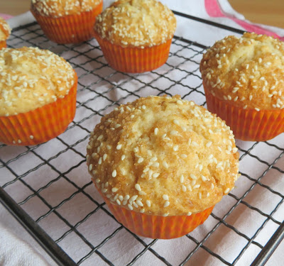 Small Batch Honey, Tahini & Sesame Muffins