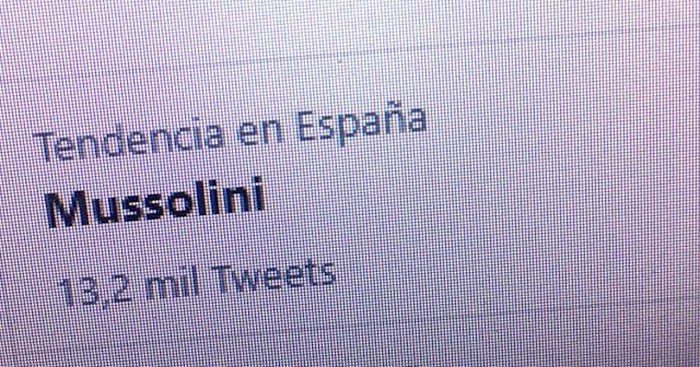 "Santiago Abascal convierte a ""Mussolini"" en tendencia en Twitter"