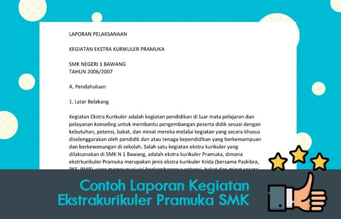 Contoh Laporan Ekstrakurikuler Pramuka SMK