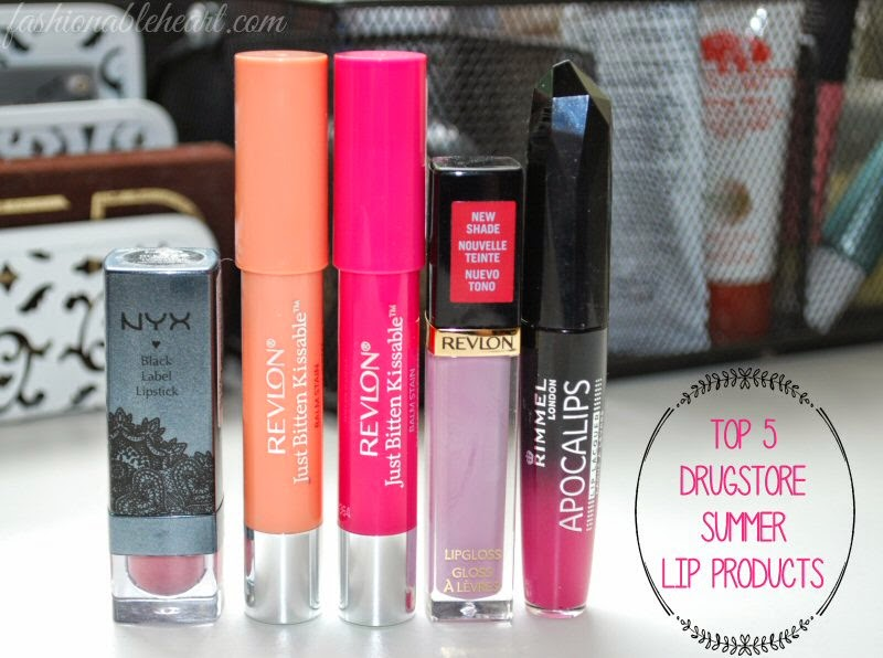 Fashionable Heart | Top 5 Drugstore Summer Lip Products