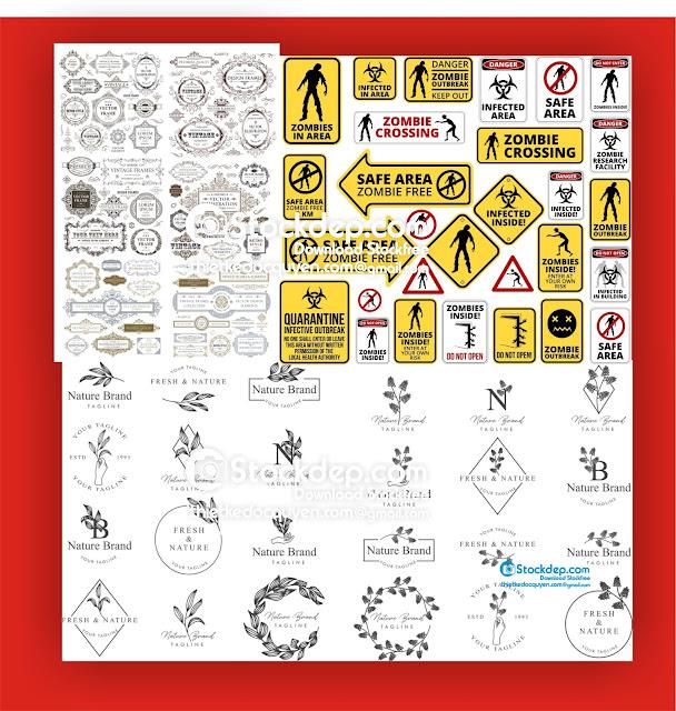 Stockdep chia sẻ mẫu khung viền hoa văn đồ họa