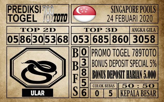 Prediksi Togel JP Singapura 24 Februari 2020 - Prediksi Togel 789toto