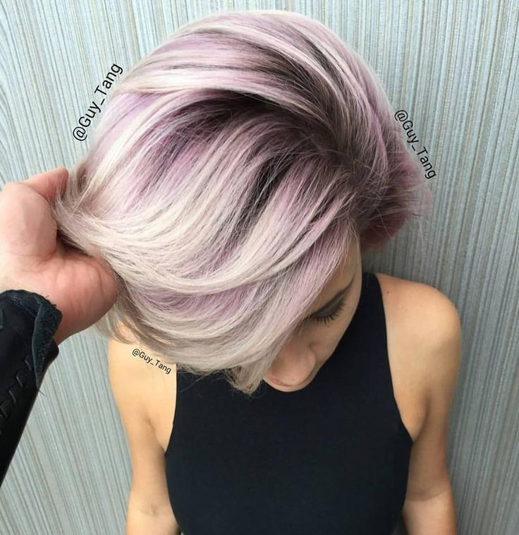 Obsessed With Metallic Hair Colors The Haircut Web