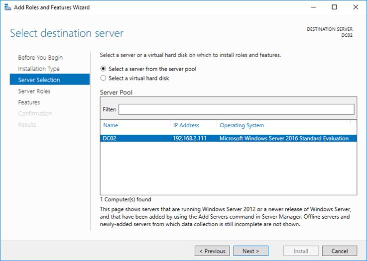 تثبيت دور خادم DNS على Windows Server 2016