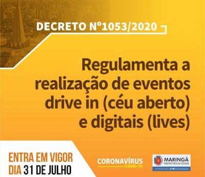 Decreto 1.053/2020 – Maringá. Café com Jornalista