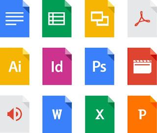 File yang dapat disimpan dengan google drive