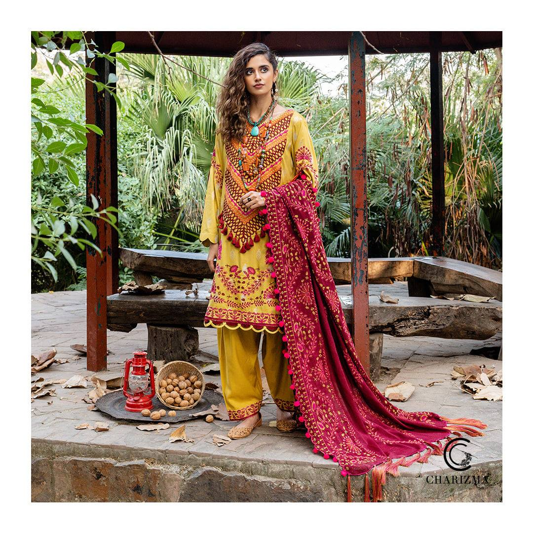 Charizma Unstitched Winter Dress Collection 2021 with Sale Price