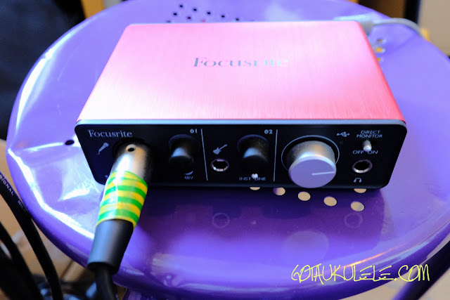 Got A Ukulele Focusrite Scarlett Interface