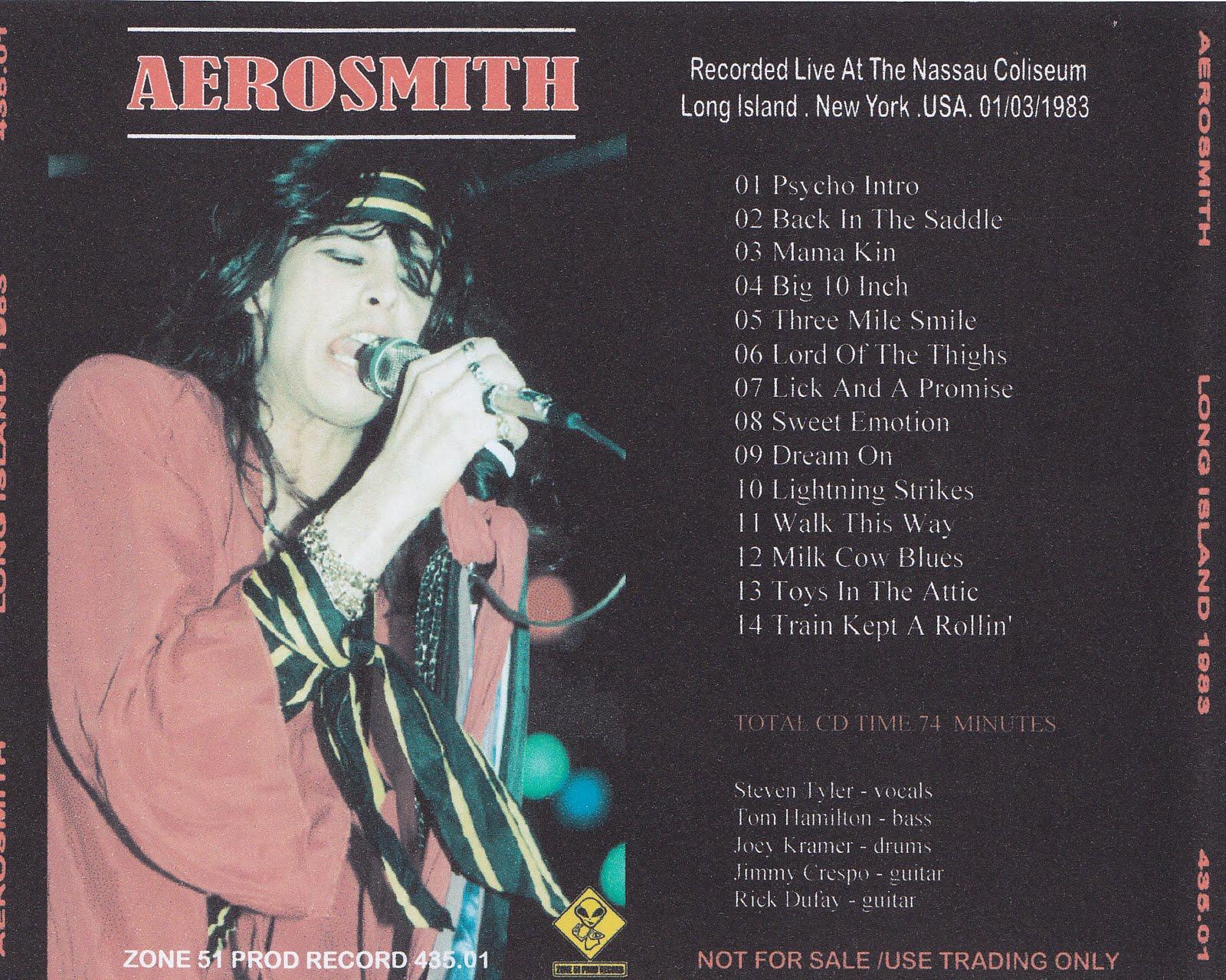 Aerosmith Bootlegs Cover Arts Long Island 1983