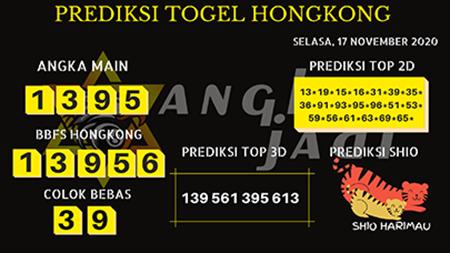 Prediksi Togel Angka Jitu Hongkong Selasa 17 November 2020