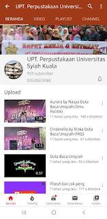 Youtube Perpustakaan UNsyiah