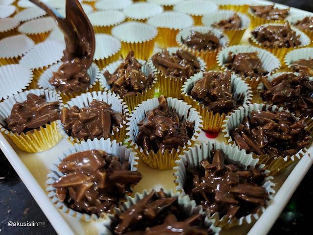 Resepi Chocolate Almond Cluster Paling Mudah Dan Sedap Guna 2 Bahan Aje