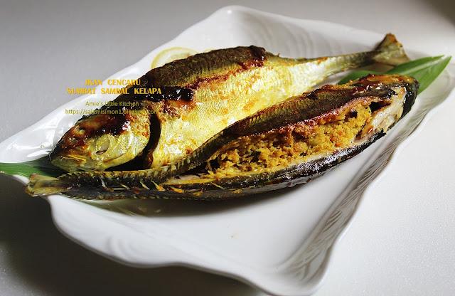 resipi ikan cencaru sumbat sambal kelapa