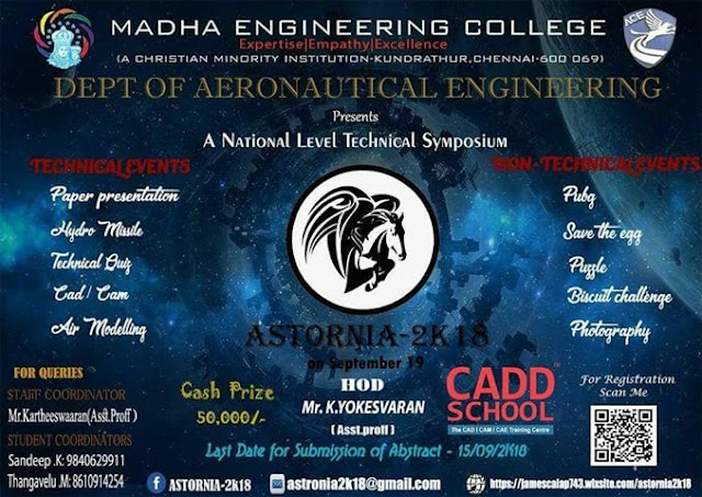 Astornia 2K18: Symposium at Madha College, Chennai