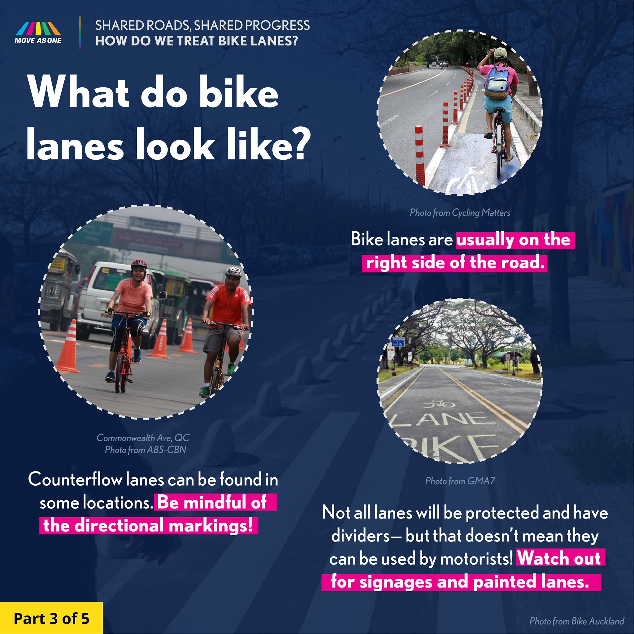 what do bike lanes look like poster