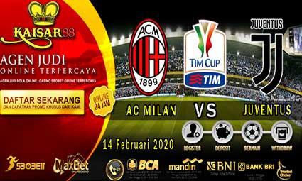 PREDIKSI BOLA TERPERCAYA AC MILAN VS JUVENTUS 14 FEBRUARI 2020