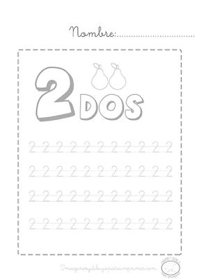 Aprender a escribir los números del 1 al 10