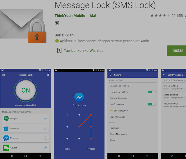 Cara Untuk Menyembunyikan SMS (Kunci SMS) Atau Pesan Teks Pribadi Anda Di Android 2
