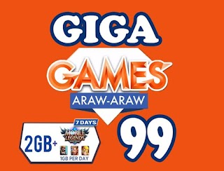 TNT Giga Games 99 – 2GB, 7 days, P99 Plus Games All-Day Every Day