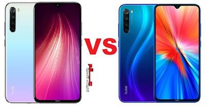 مقارنة بين شاومي Xiaomi Redmi Note 8 2019 و Redmi Note 8 2021