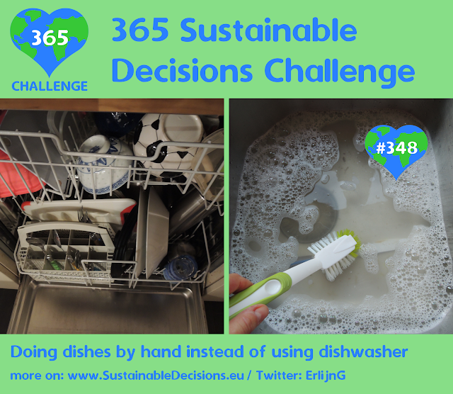 Doing dishes by hand instead of using dishwasher, Saving energy, Saving water, sustainable living, climate action, sustainability