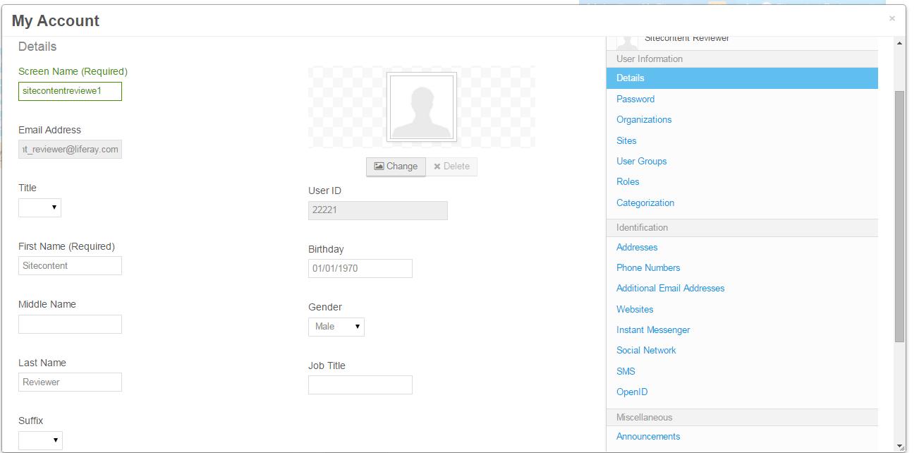 Liferay User Profile Input Fields Disable/Enable ~ Liferay Savvy