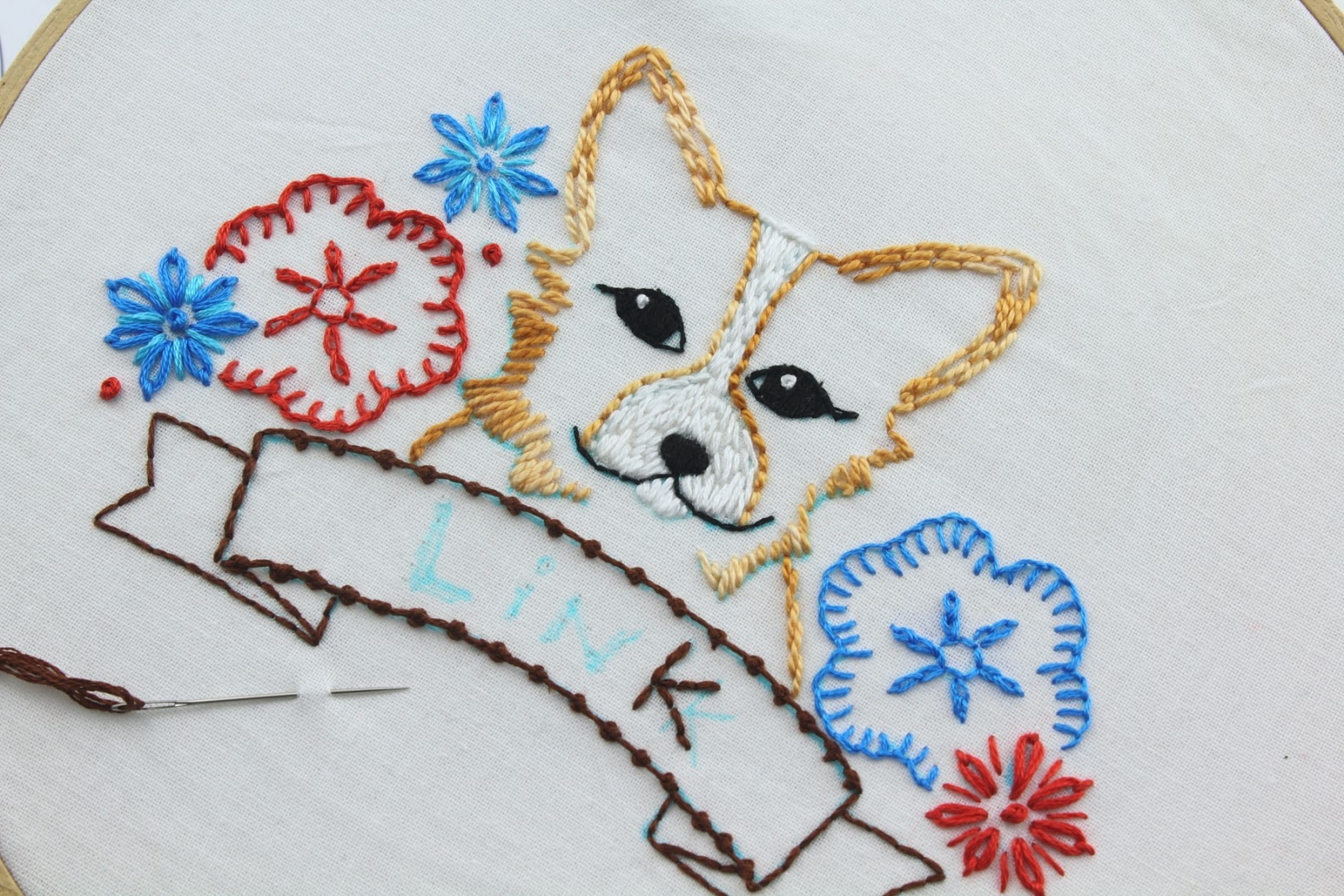 Big b here is a look at the corgi embroidery pattern set bankloansurffo Image collections