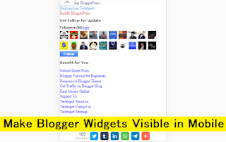 make Blogger widgets visible in Mobile view