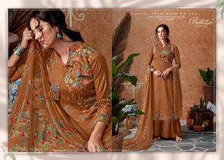 Belliza Designer Roman Beauty Jam Silk Salwar Kameez Collection