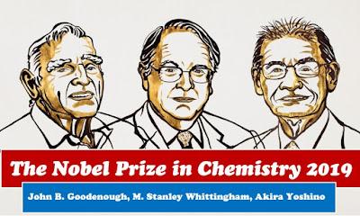 Nobel Prize 2019 In Chemistry Awarded to John Goodenough, M. Stanley Whittingham and Akira Yoshino