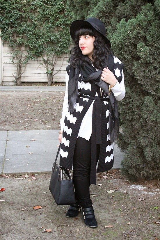 Winter Black and White Layers Outfit