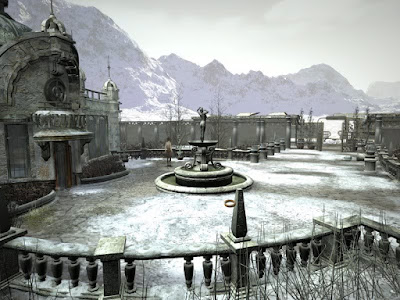 Syberia Aralbad Snowy Fountain Screenshot